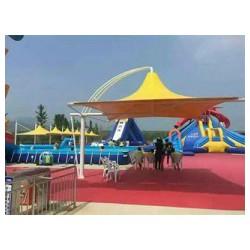 上海体育看台膜结构咨询-造型柔美的体育看台膜结构