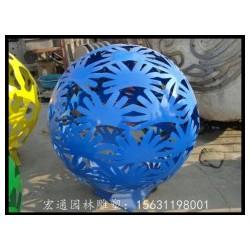 不锈钢花球雕塑 公园景观雕塑厂家