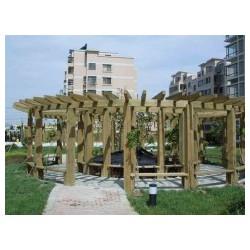 低价户外木制品-为您推荐合格的防腐木花架