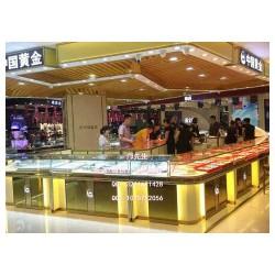 时尚大气的中国黄金展柜,珠宝展示柜图片设计,黄金展示柜制作