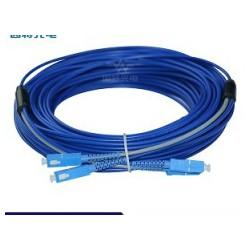 景升光缆SC-SC单模双芯防鼠咬铠装光纤跳线定制米数接头