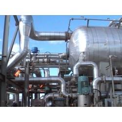 排水管道玻璃棉管铁皮保温工程设备硅酸铝保温工程