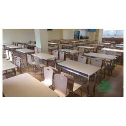 大型食堂餐厅工程桌椅 食堂餐桌椅定制 运达来家具