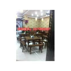 江西原木酒店桌椅批发定做实木原木餐桌餐椅